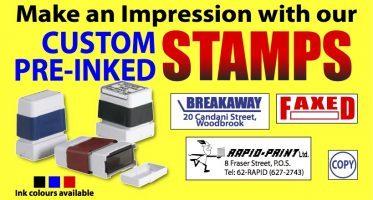 Custom Pre-inked Stamps